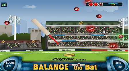 Game's screenshot - Balance The Bat