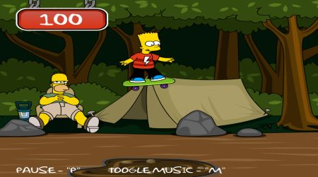 Game's screenshot - Bart Simpson Skateboarding