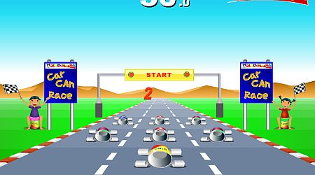 Game's screenshot - Car Can Racing