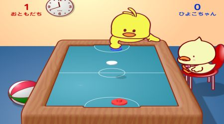 Game's screenshot - Chicken Table Hockey