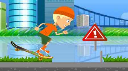 Game's screenshot - Crazy Skateboard