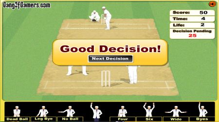 Game's screenshot - Cricket Umpire Decision