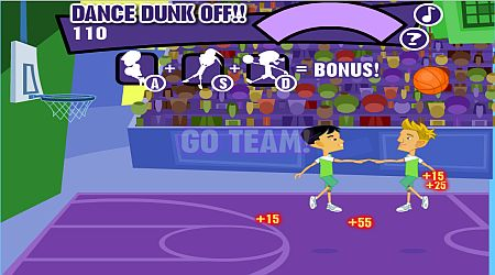 Game's screenshot - Dance Dunk-Off