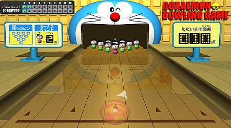Game's screenshot - Doraemon Bowling Game