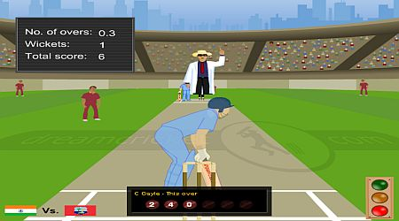 Game's screenshot - Dream Cricket
