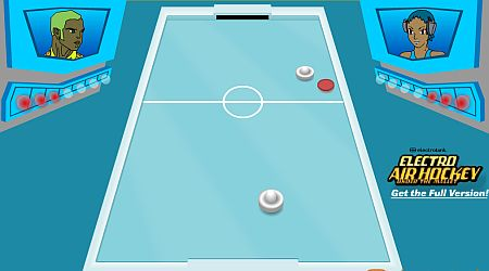Game's screenshot - Electro Air Hockey
