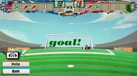 Game's screenshot - Euro Shoot-Out 2012