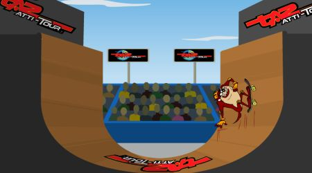 Game's screenshot - Extreme Taz Skateboard Halfpipe