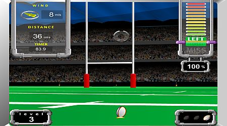 Game's screenshot - Field Goal Challenge