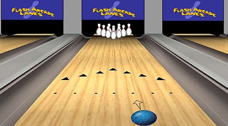 Game's screenshot - Flash Arcade Lanes