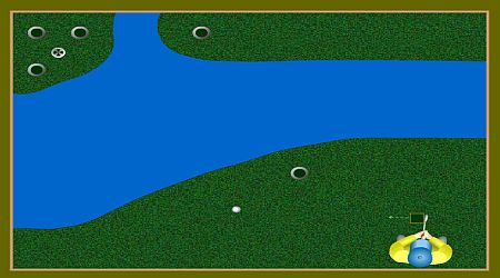 Game's screenshot - Flash Golf