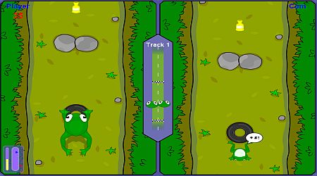 Game's screenshot - Frog Race