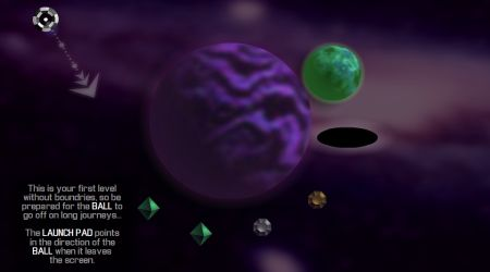 Game's screenshot - Galactic Gravity Golf