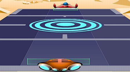 Game's screenshot - Galactic Tennis