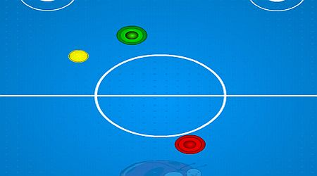 Game's screenshot - Gamezindia Air Hockey