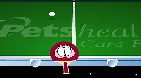 Game's screenshot - Garfield Ping Pong