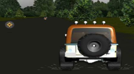 Game's screenshot - Jeep Race 3D