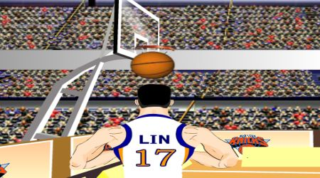 Game's screenshot - Jeremy Lin Shootout