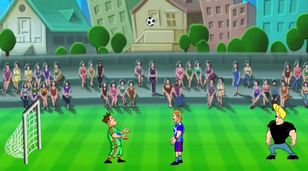 Game's screenshot - Johnny Bravo Soccer Champ