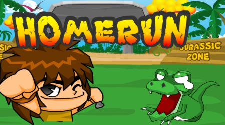 Game's screenshot - Jurassic Homerun King