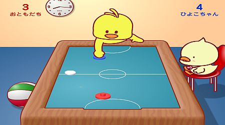 Game's screenshot - Little Chicks Air Hockey