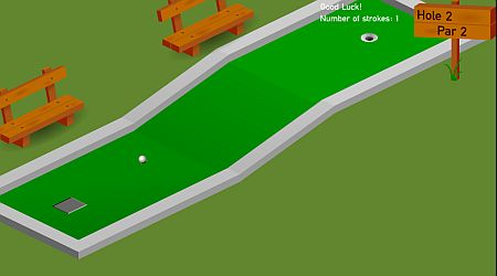 Game's screenshot - Mini Golf