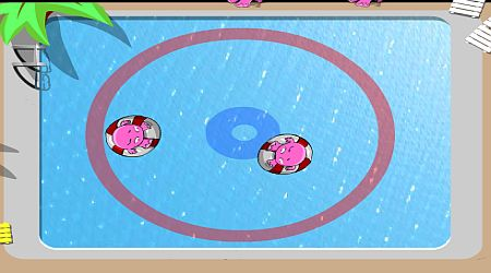 Game's screenshot - Monster Pool Side Sumo