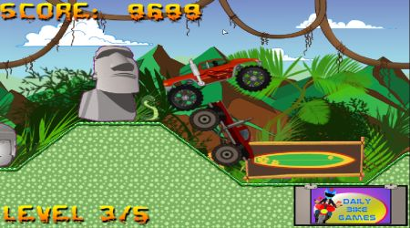 Game's screenshot - Monster Truck Race 3