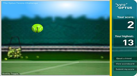 Game's screenshot - Optus Tennis Challenge