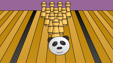Game's screenshot - Panda Bowling