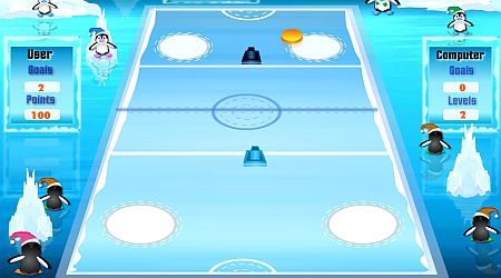 Game's screenshot - Penguin Hockey