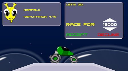 Game's screenshot - Planet Racer
