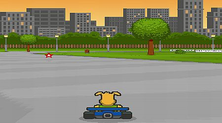 Game's screenshot - Puppy Racing