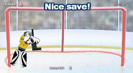 Game's screenshot - Ragdoll Hockey Goalie