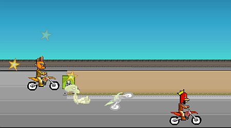 Game's screenshot - Rocket Bike