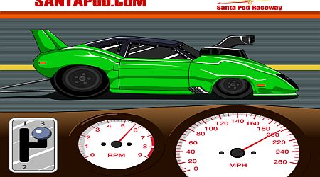 Game's screenshot - Santa Pod Racer