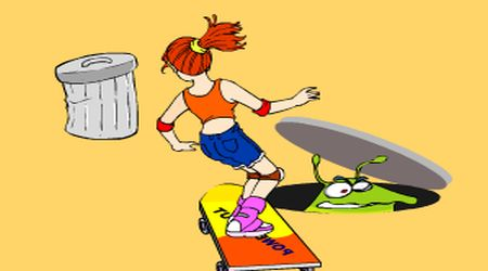 Game's screenshot - Skateboard Girl