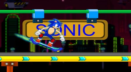 Game's screenshot - Sonic Skate Glider