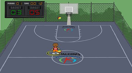 Game's screenshot - Spalding Shoot Out