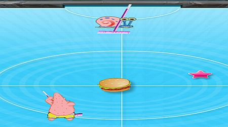 Game's screenshot - SpongeBob Hockey Tournament