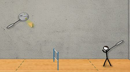 Game's screenshot - Stick Figure Badminton
