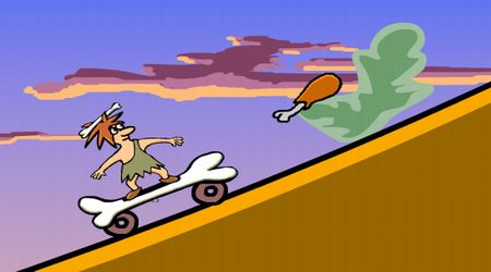 Game's screenshot - Stone Age Skater