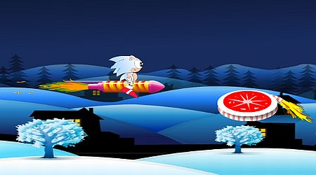 Game's screenshot - Super Sonic Diwali Fun