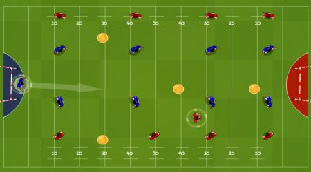 Game's screenshot - Table Rugby