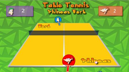 Game's screenshot - Table Tennis Phineas Ferb