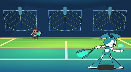 Game's screenshot - Techno Tennis