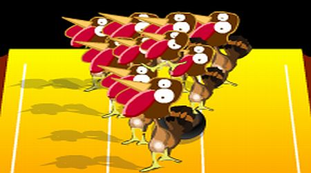 Game's screenshot - Turkey Bowling