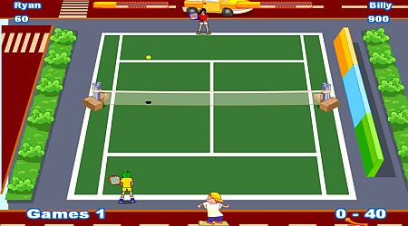 Game's screenshot - Twisted Tennis