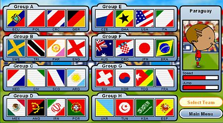 Game's screenshot - World Cup Headers